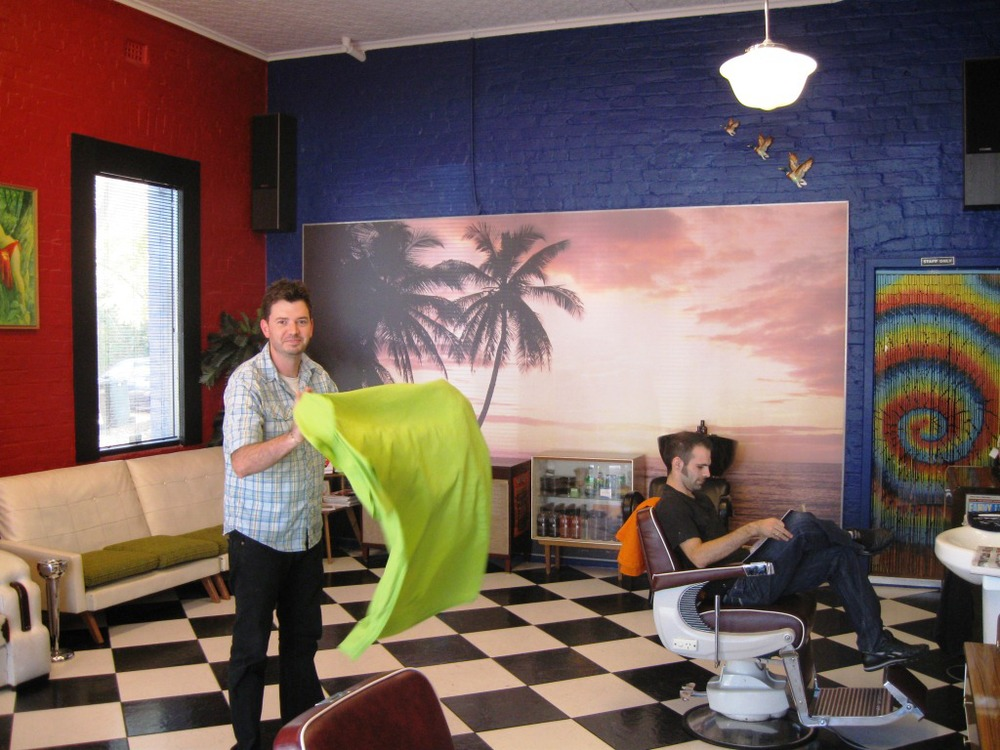 Clint in Mr Snippy's – Hay Street, Subiaco