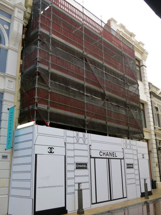 Chanel fitting out in Perth