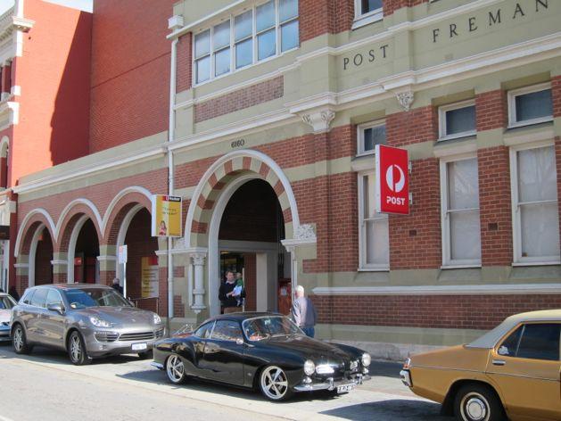 Black Volkswagen Karmann Ghia in Fremantle, Australia