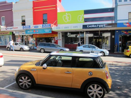 Mini Cooper something-or-other on Rokeby Road, Subiaco, Australia