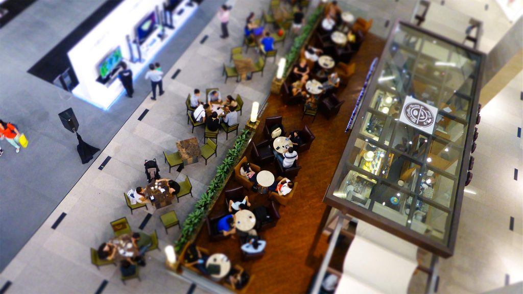Mall cafe from above